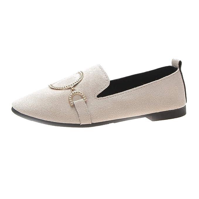 VECDY Zapatos Mujeres Retro Cabeza Plana Zapatos Casuales ...