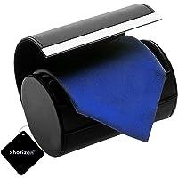 xhorizon SR Necktie Neck Tie Roll Case Travel Storage Case Gift Box Cylinder Shape