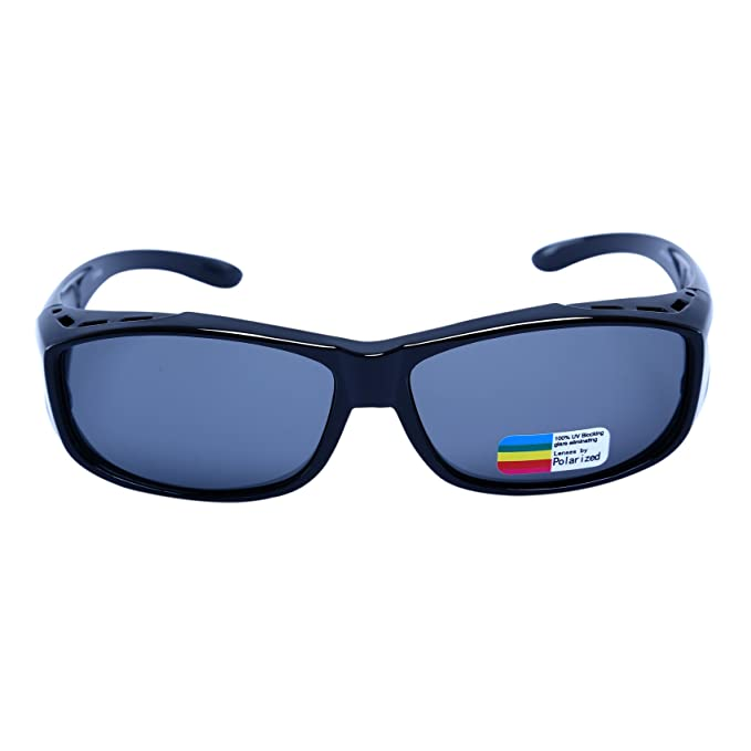 4b74bbfa62 Polarized Sunglasses that Fit Over Prescription Glasses for Men and  Women(Glossy Black)
