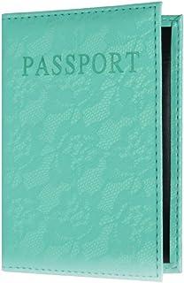 Dandeliondeme passaporto Copertura Custodia a Portafoglio Porta Documenti in Similpelle da Viaggio Impermeabile Rose Red