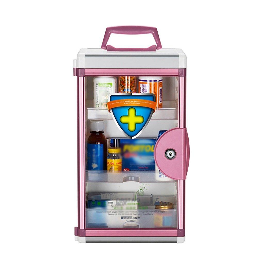 + Pink 薬箱家族の多機能大救急箱アルミニウム合金密封薬箱壁に取り付けられた携帯用錠剤の薬箱 ## (色 : B07KJ93V1J 青) (色 B07KJ93V1J Pink Pink, 愛媛県:092a7044 --- mail.tastykhabar.com