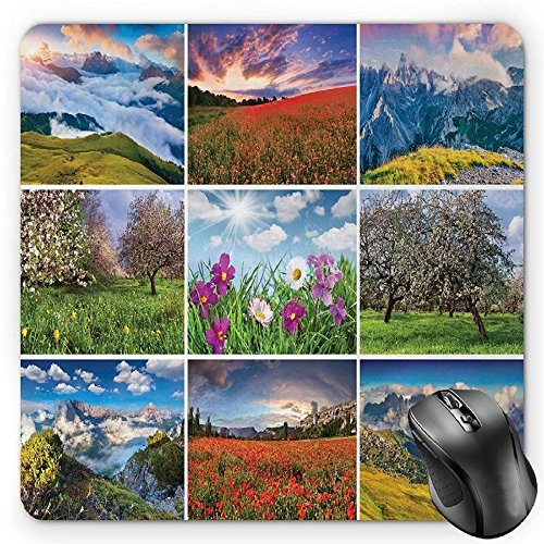 BGLKCS Spa Mouse Pad by, Aromatherapy Purple Lilac Orchid Wellness Spa Fragrant Organic Herbal Oil Soaps Candles, Standard Size Rectangle Non-Slip Rubber Mousepad, (Therapy Mouse Pads)