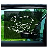 Car Sun Shades by Just-f-Care - 2 Pack - Friendly ZOO Animals, Protects Kids from Harmful UV Rays, Self Adhesive, Easy to Install, Doesn´t Block the View - Able to Scroll the Window, 100% Guarantee