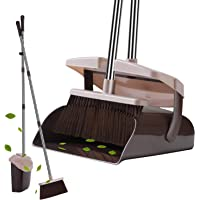 Deals on YaYbYc Broom and Dustpan Set w/Lid Super Long Handle Broom