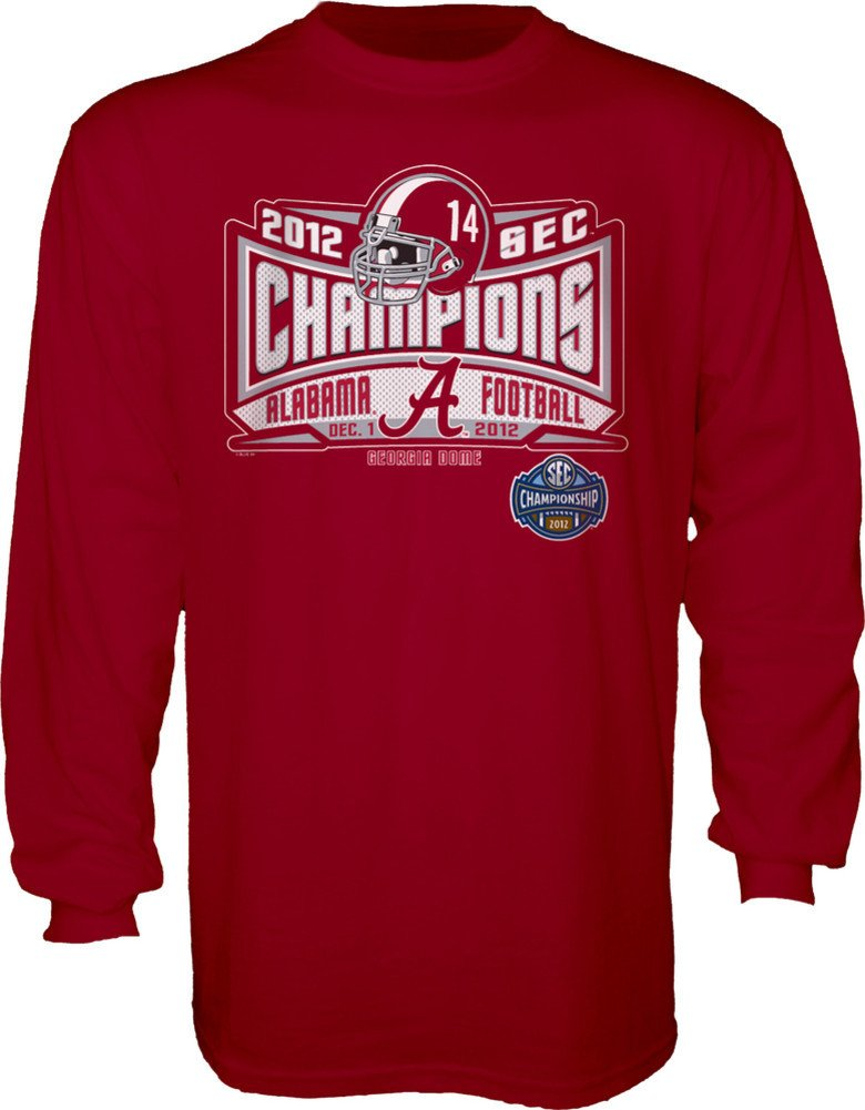 Elite Fan Shop University of Alabama Football 2012 SEC Champs Long Sleeve Shirt