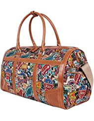 Disney Vintage Mickey Oversized Canvas Casual Travel Tote Luggage Duffel Bag