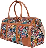 Disney Vintage Mickey Oversized Canvas Casual Travel Tote Luggage Duffel Bag (bag-068-1)