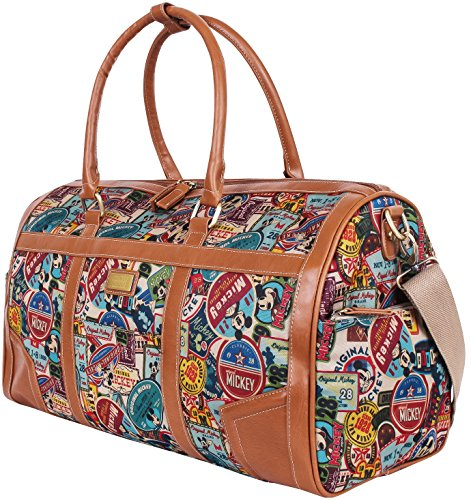 Disney Vintage Mickey Oversized Canvas Casual Travel Tote Luggage Duffel Bag (bag-068-1) by Disney