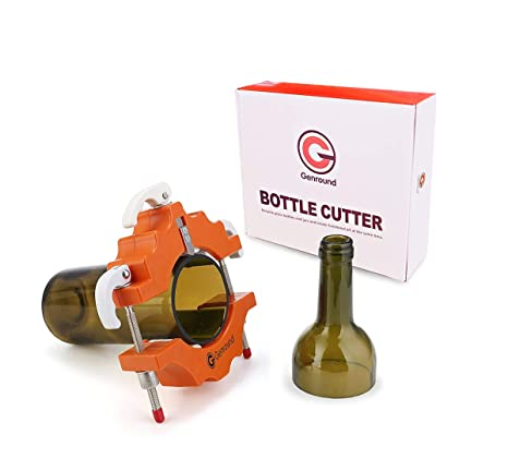 Cortadores de Botellas de Vidrio Redondo Cortadora vidrio Bottle Cutter - Naranja