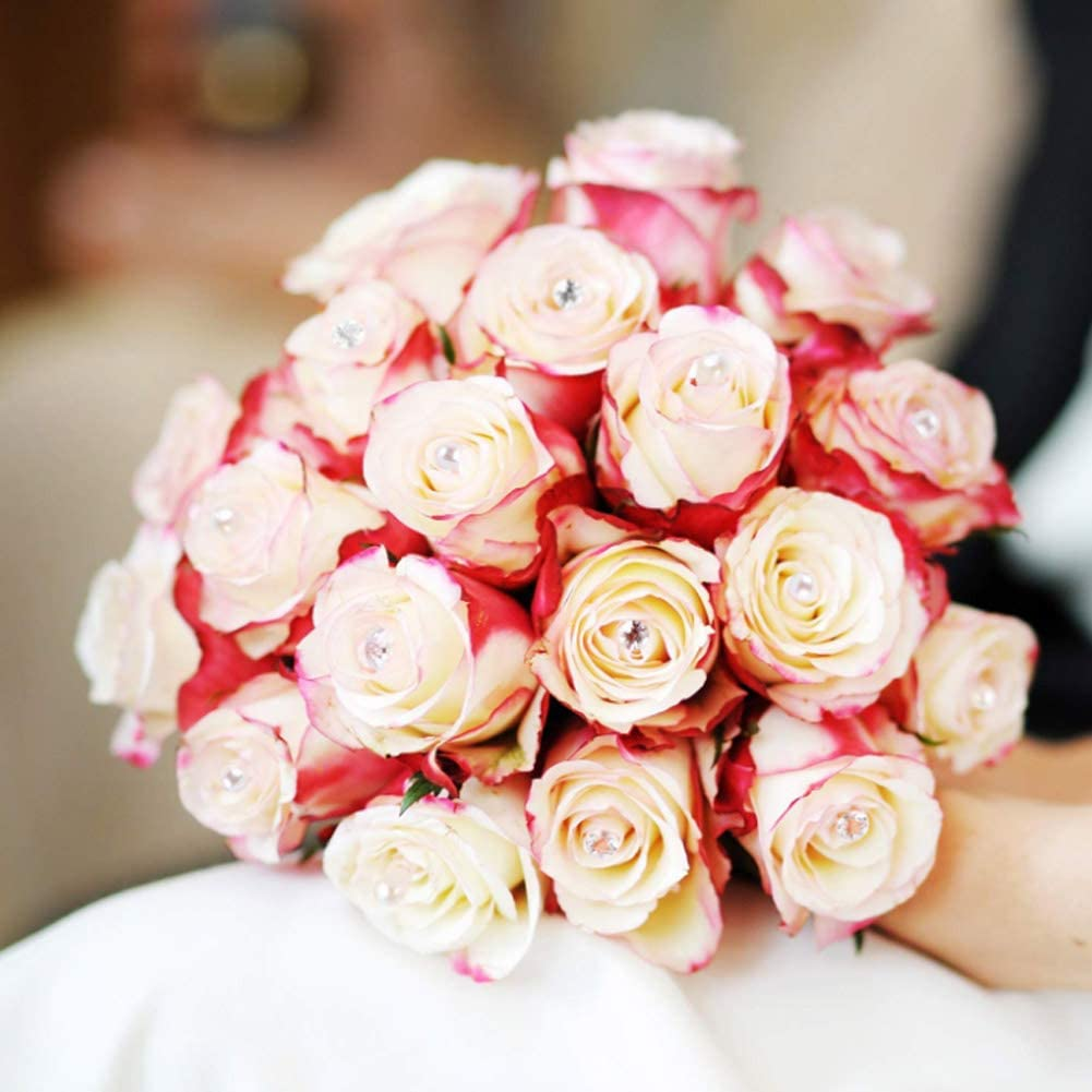 DEXING 300 Pieces Floral Pins Corsage Pins Bouquet Pin Flower Pin Diamond Head Pins Straight Pins for Wedding Anniversary Flower Decoration 2 Inch
