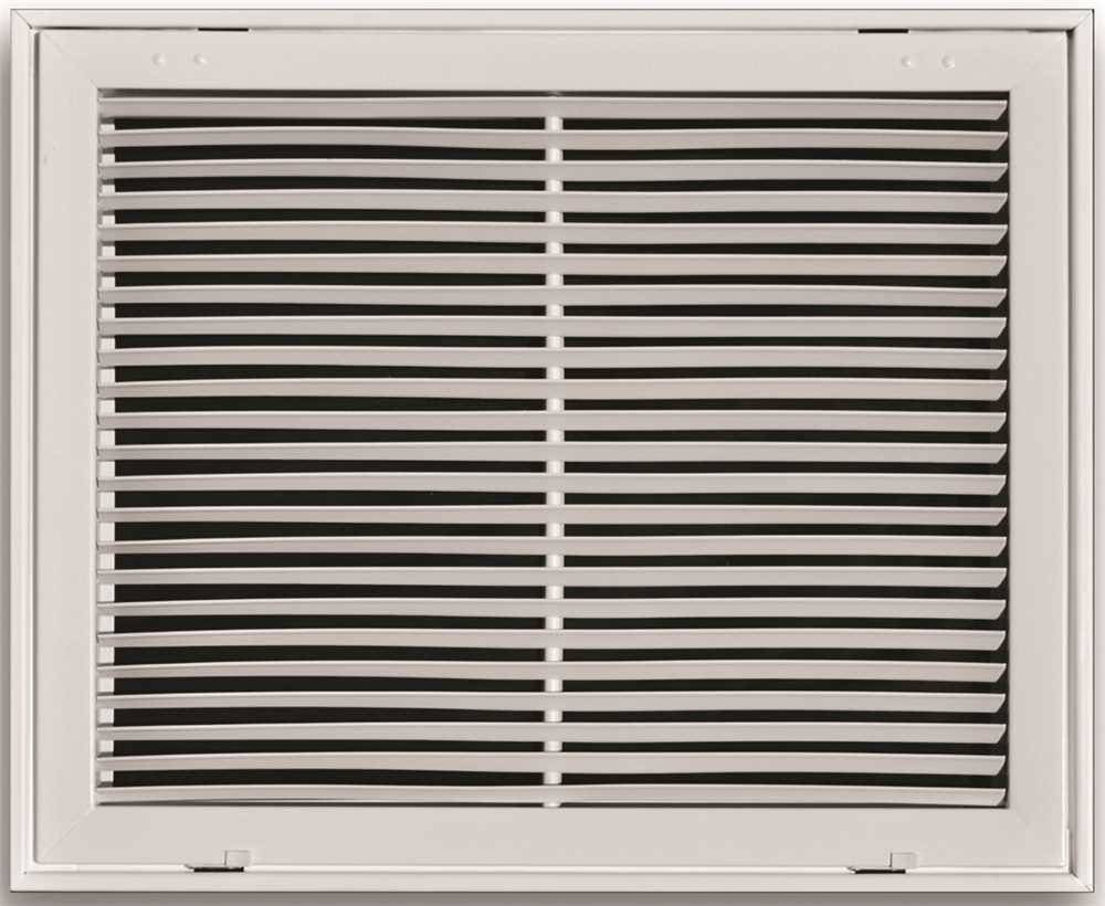 Truaire A290 12X12 Aluminum Fixed Bar Return Air Filter Grille, 12'' X 12'', White, 15'' x 2.25'' x 15''