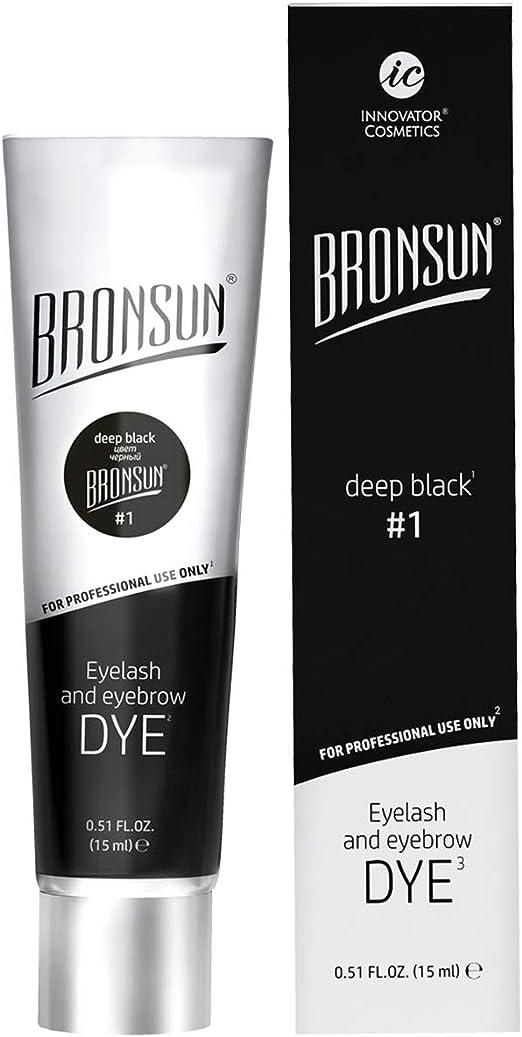 Tinte para cejas y pestañas para colorear – Instant Eyebrows and Lashes colores de larga duración 15 ml (Deep Black N°1)