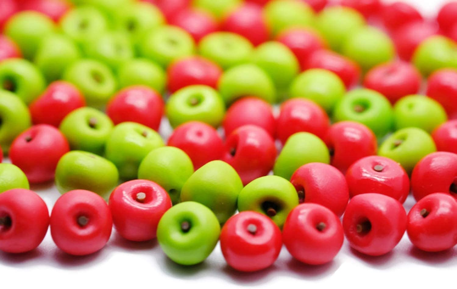 1shop Mini 40 Red and Green Apple Dollhouse Miniatures Toys & Food Kitchen by Handmade