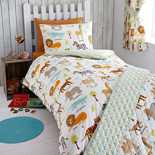 Cot Duvet Cover (MY SAFARI ZEBRA ELEPHANT MONKEY JUNIOR BABY BOY COT BED DUVET COVER BEDDING SET)