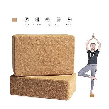 LISHUAISHUAI Yoga Block Cork Set 2, Pilates Equilibrio ...