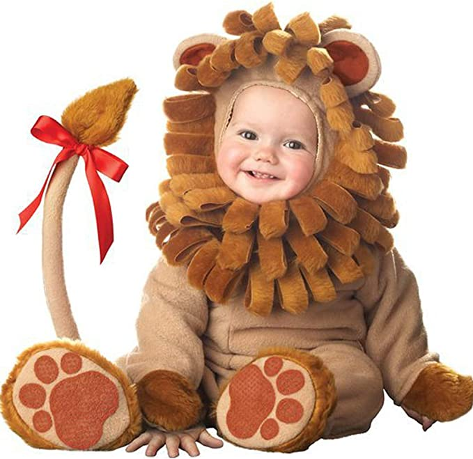 PoeHXtyy Disfraz de león para niños Halloween Infant Baby Jumpsuit ...