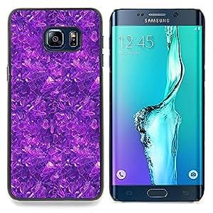 """Qstar Arte & diseño plástico duro Fundas Cover Cubre Hard Case Cover para Samsung Galaxy S6 Edge Plus / S6 Edge+ G928 (Modelo púrpura"""")"""