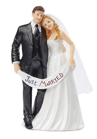Tortenfigur Just Married 13 5cm Hoch Hochzeitspaar Brautpaar Mit