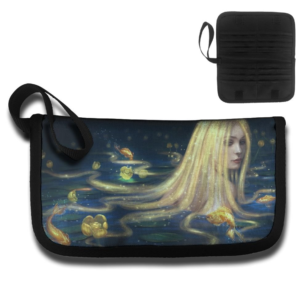 Elf Girl In The Pond Travel Passport /& Document Organizer Zipper Case