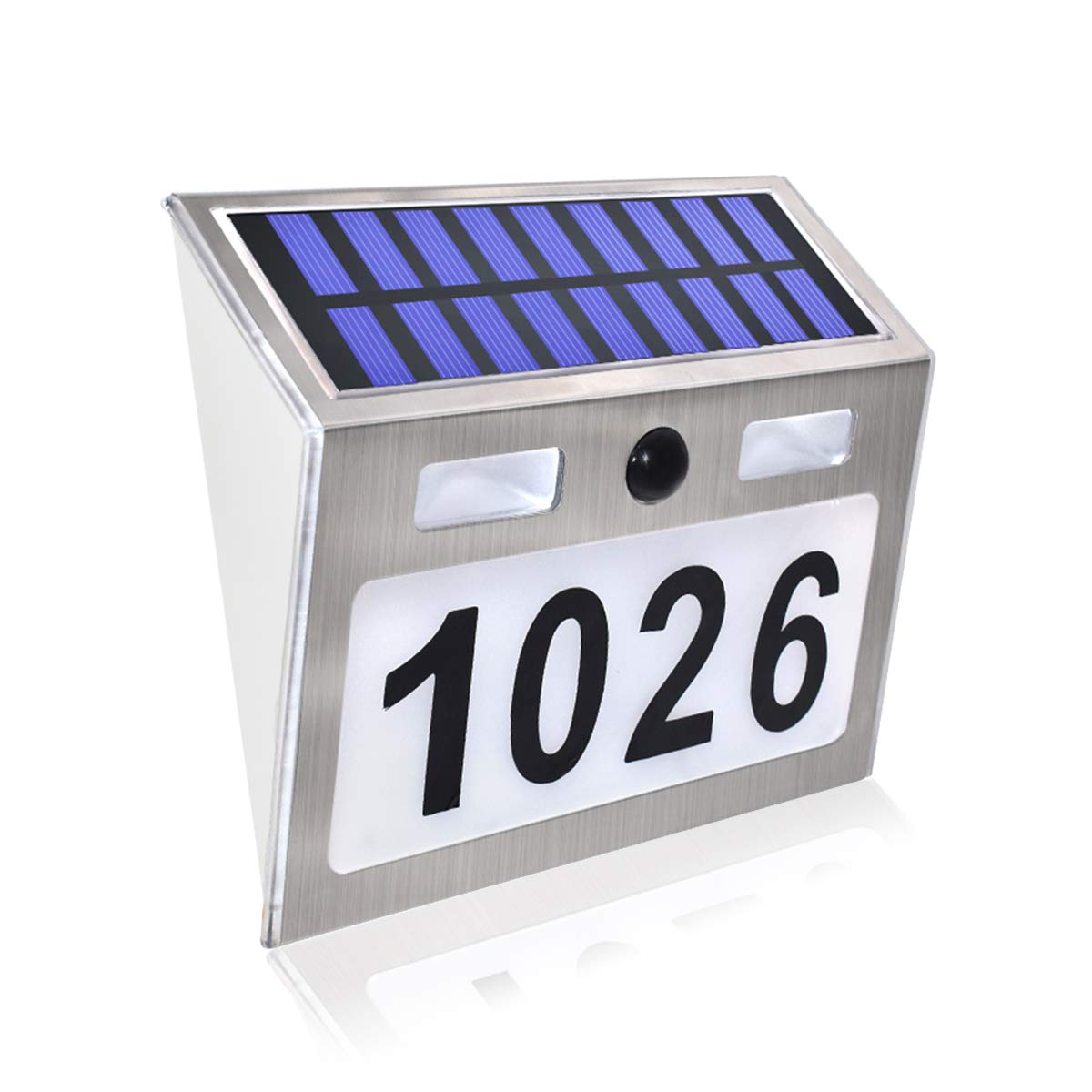 comboss Solar House Number Plaque Light with 200LM Motion Sensor LED Light Address Number for Home Garden, Customized Letter & Number