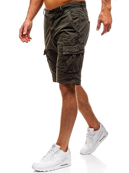 BOLF Hombre Pantalones Cortos Deportivos Short Bermuda Bolsillos Casual 7G7 Motivo: Amazon.es: Ropa y accesorios