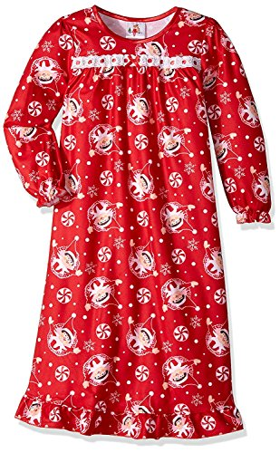 29 Classic Books (Creatively Classic Activities and Books Elf On The Shelf Girls Flannel Granny Gown Nightgown Pajamas (4, Red/Pink))