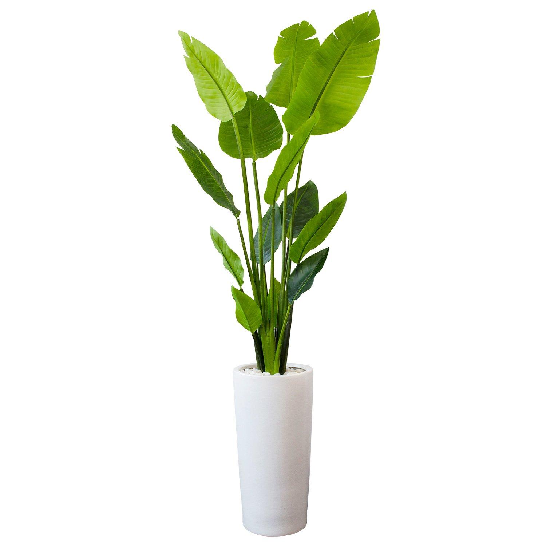 GREENPARK ストレチア ウッドチップ プランターH50 造花 フェイクグリーン B079WVHVWS