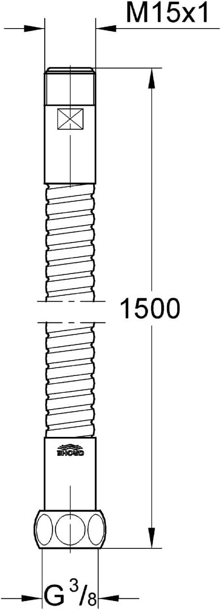 GROHE Flexible de Douche 15m Relexaflex 28112000 Import Allemagne