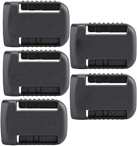 5PCS ABS Material Battery Stealth Mounts for DeWalt 18V-60V Tool Battrey
