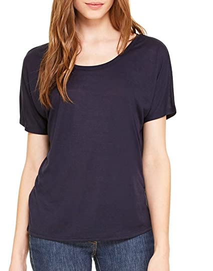 fa34a7ae Bella + Canvas Womens Slouchy T-Shirt (8816) MIDNIGHT at Amazon ...