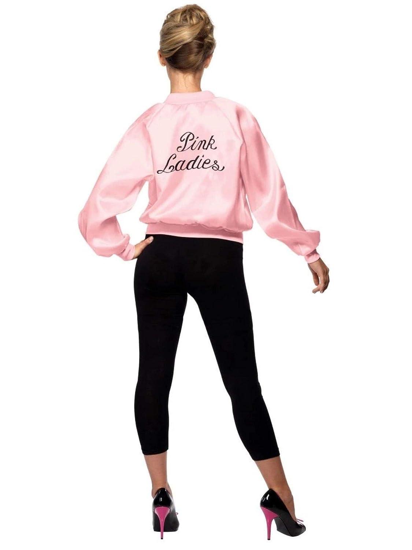 SmiffyS 28385Xs Cazadora De Las Pink Ladies De Grease Con Logotipo Bordado, Rosado, Xs - Eu Tamaño 32-34