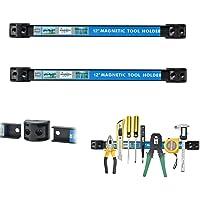 Cooltto Set de 2 Piezas Barras Tiras Magnéticas-12 Inch Magnético Barra para Herramientas Soporte Organizador de…