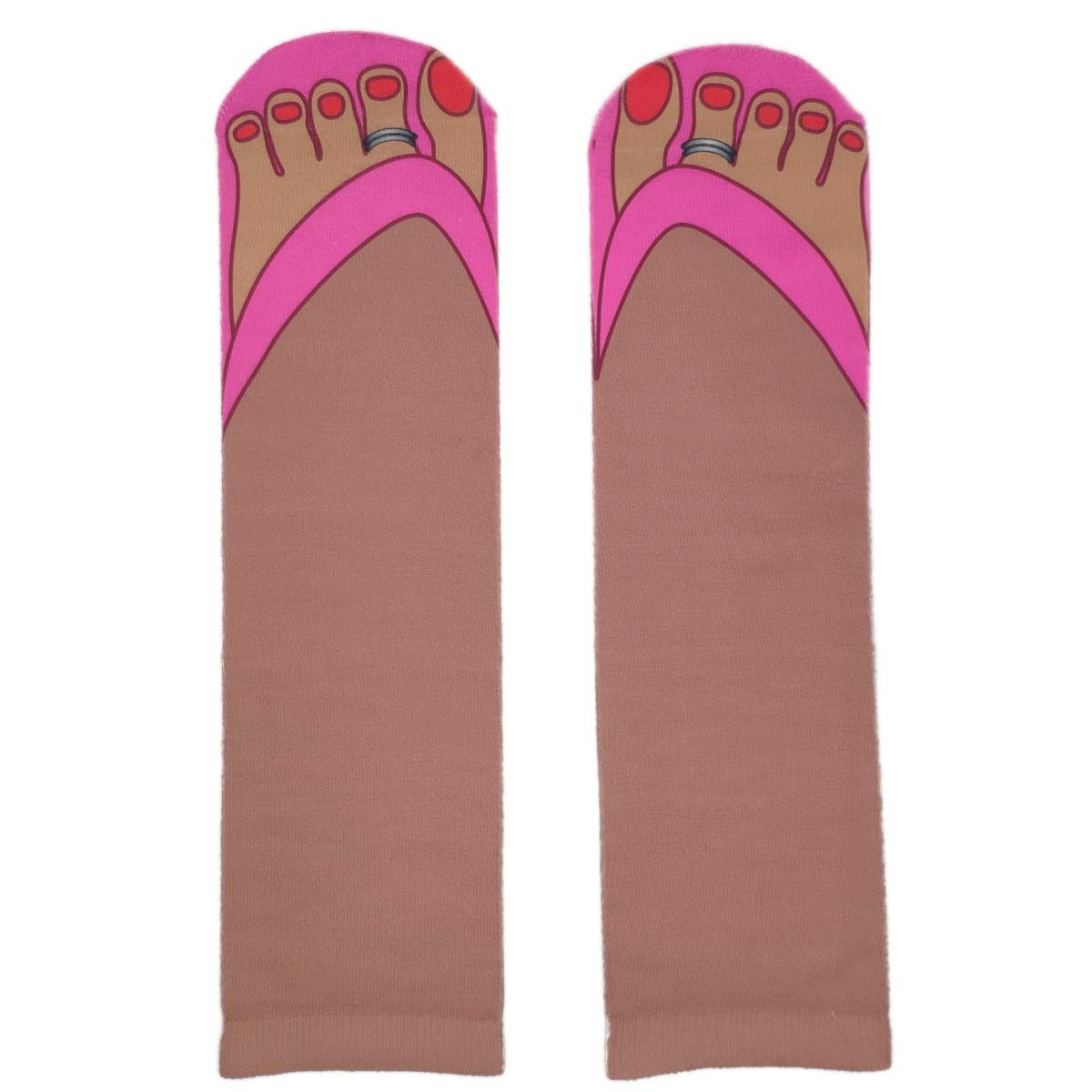 Engmoo Funny Slipper Socks Print 3D Socks Novelty Slipper Socks Crew Socks for Men Women