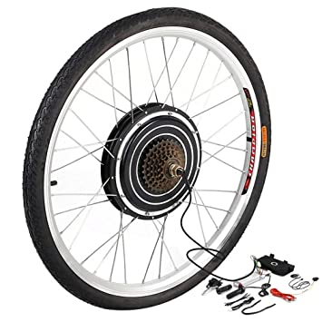YESPER 26 Pulgadas 500 W 36 V Rueda Trasera para Bicicletas eléctricas Plug-It para Herramientas nachrüstsatz E-Bike Conversion Kit Buje con: Amazon.es: ...