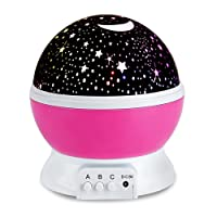 Moredig  360 Rotating Star Lamp Baby Musical Lamp with Rechargeable Battery