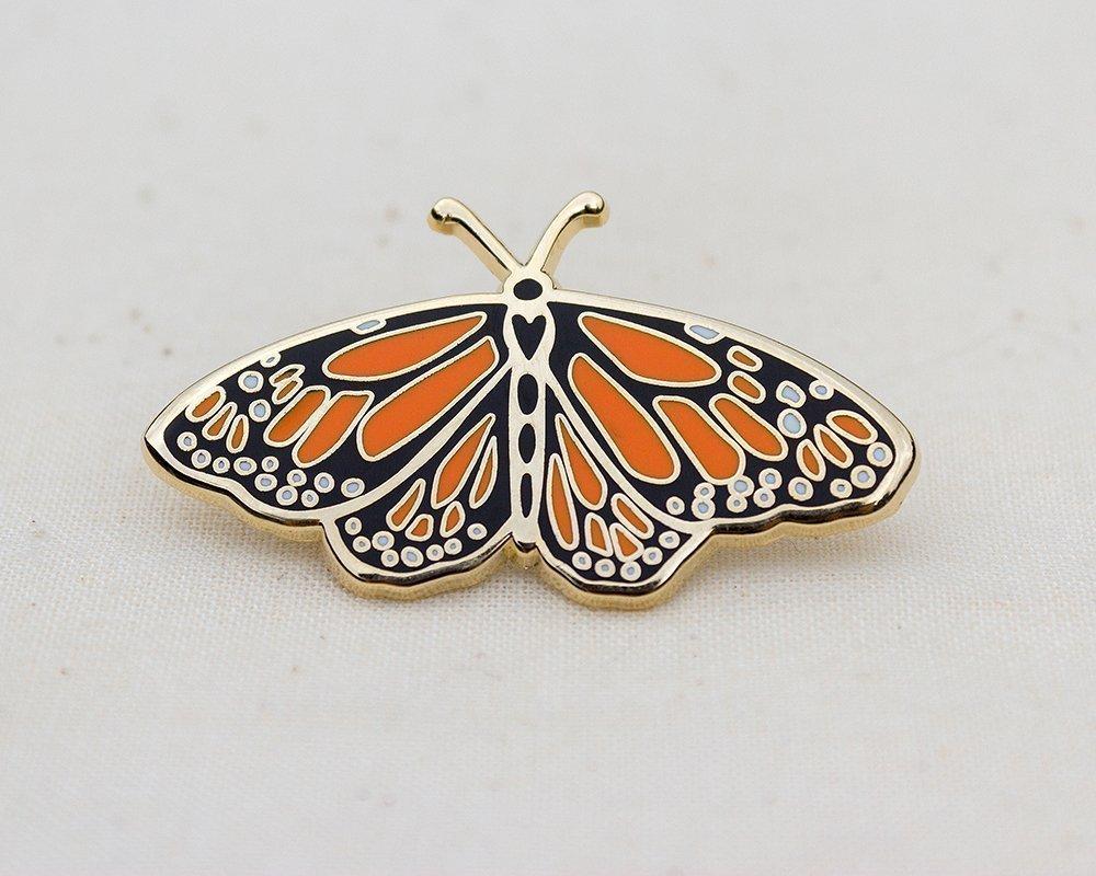 Monarch Butterfly Enamel Pin - Lapel Pin - Badge