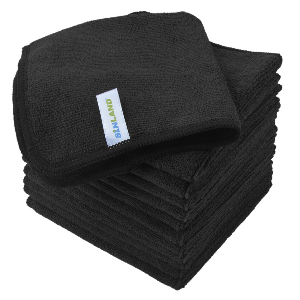 Microfiber Dish Rags: Sinland Microfiber Cleaning Cloth Absorbent Dish Cloth