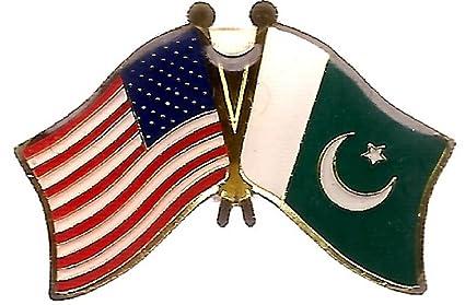 ce2893e5ec Pack of 3 Pakistan & US Crossed Double Flag Lapel Pins, Pakistani &  American Friendship
