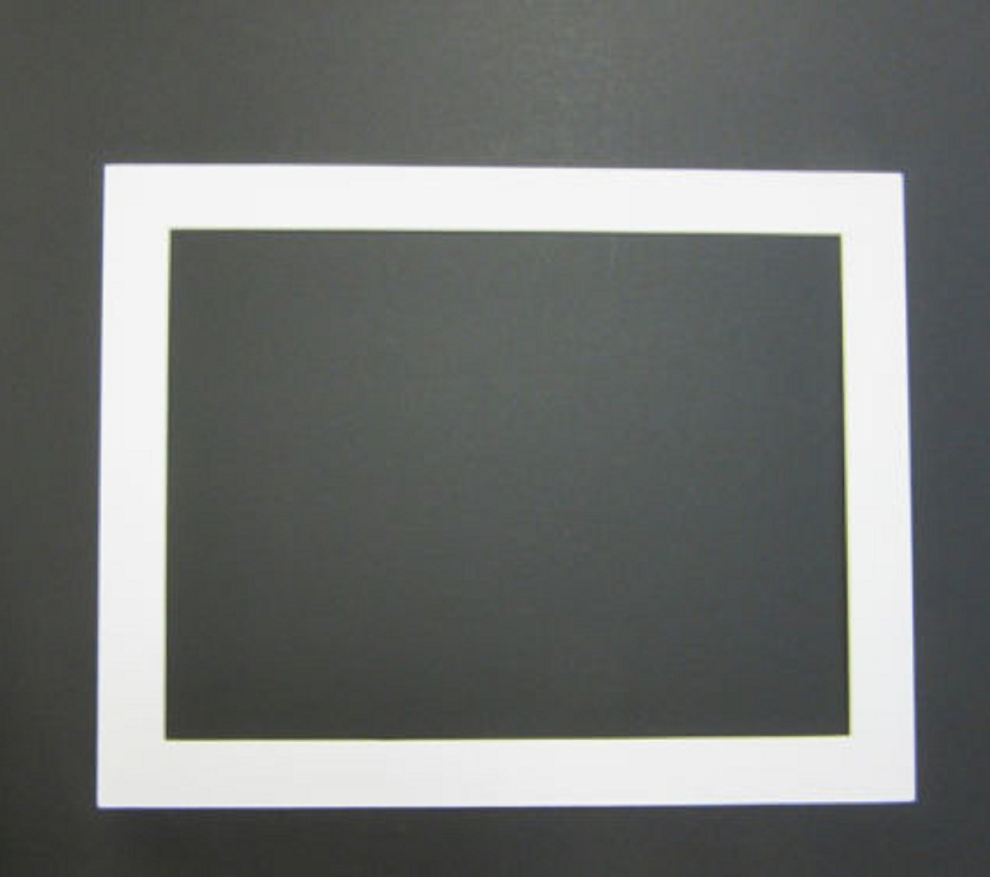 USA Premium Store Picture Framing Mats 11x14 for 9x12 photo White with white core set of 24