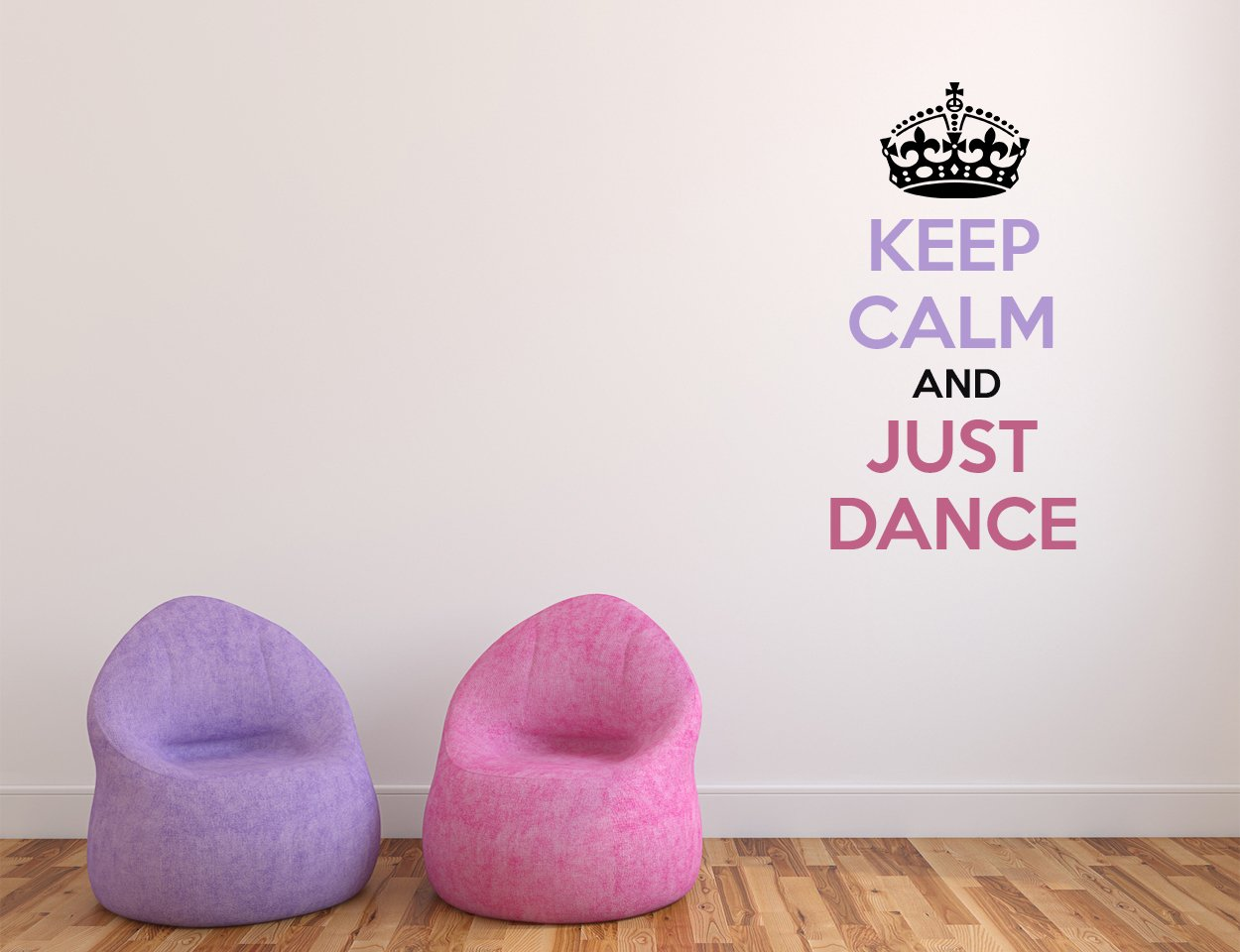 Keep Calm Just Dance Quote - Mural Wall Decal Sticker For Home Room Door Car Laptop