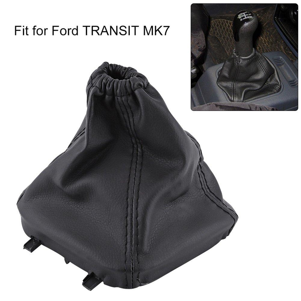 Copri Pomello Cambio Auto in Pelle Antipolvere Cover Gaiter Boot Replacement per TRANSIT MK7