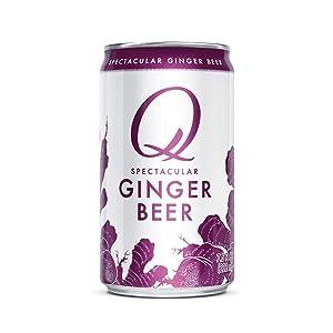 Q Ginger Beer, Premium Ginger Beer: Real Ingredients & Less Sweet, 7.5 Fl oz, 24 Cans