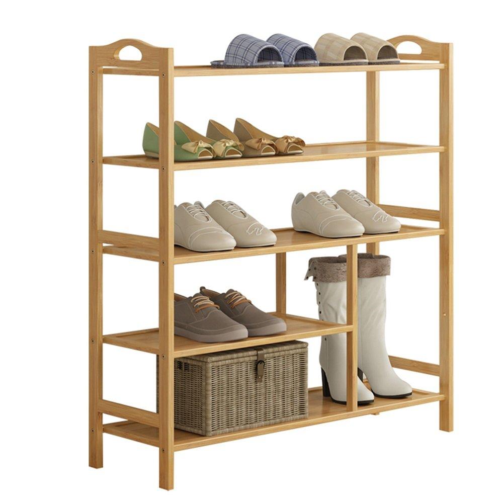 ZHIRONG Bamboo 5-Tier Shoe Rack 12-16 Pairs Entryway Shoe Shelf Storage Organizer 702693CM / 802693CM / 902693CM