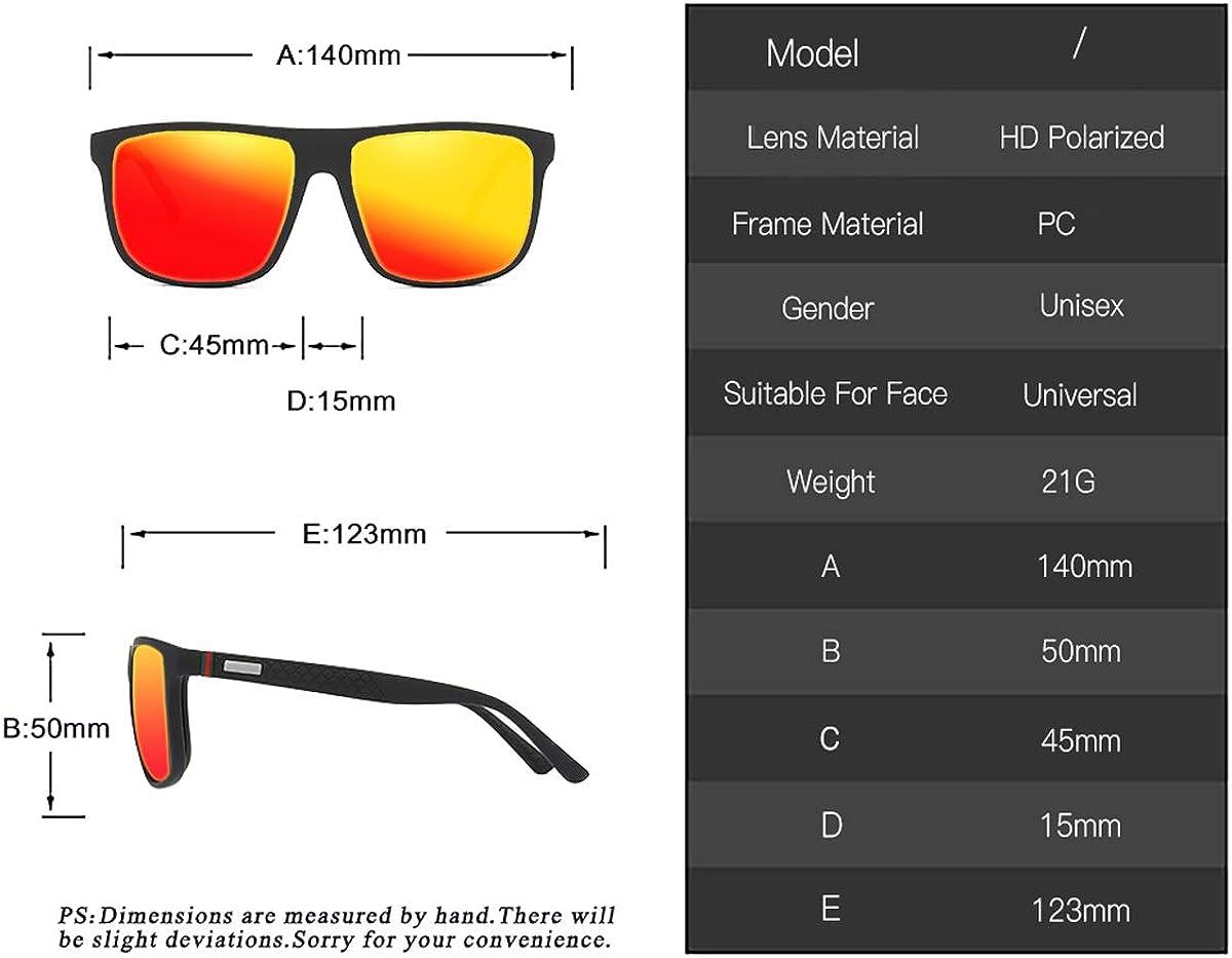 perfectmiaoxuan Gafas de sol polarizadas para hombres//mujeres; Marco de metal ligero vintage//cl/ásico//elegante; Lentes piloto HD; Golf//conducci/ón//pesca//viaje Gafas