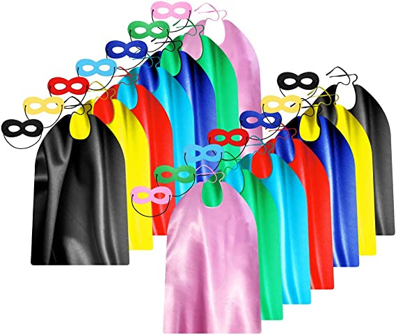 Stocking Stuffers Super Hero Cape Accessory Superhero Mask You CHOOSE from 20 Bright Colors. One ADJUSTABLE Super Hero MASK Party Favors