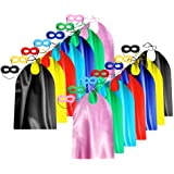 Adult Superhero Capes and Masks for Teenagers Men & Women - Dress Up Superhero Party Capes for Spirit Day Team Building - 14