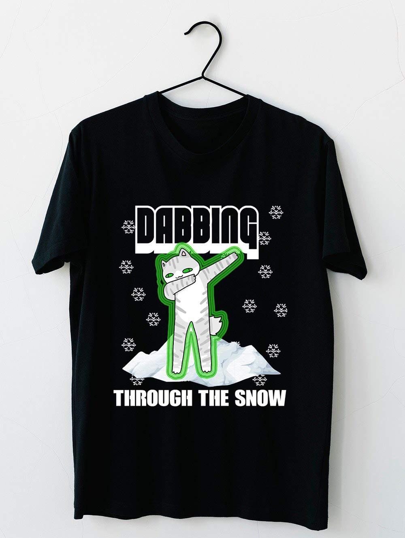 Cat Dabbing Through The Snow T Shirt For Unisex