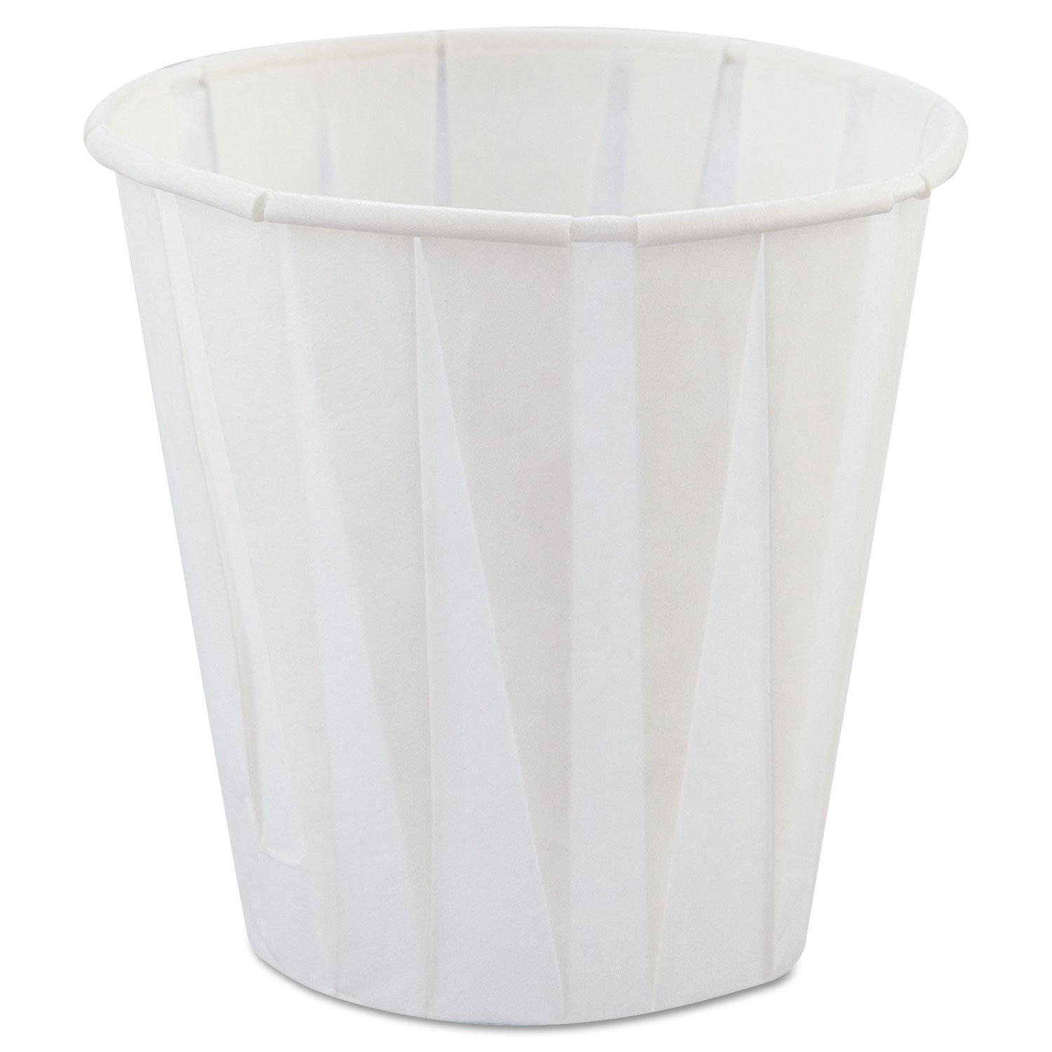 Genpak Harvest Paper Pleated Water Cup, 3.5 Ounce - 2500 per case.