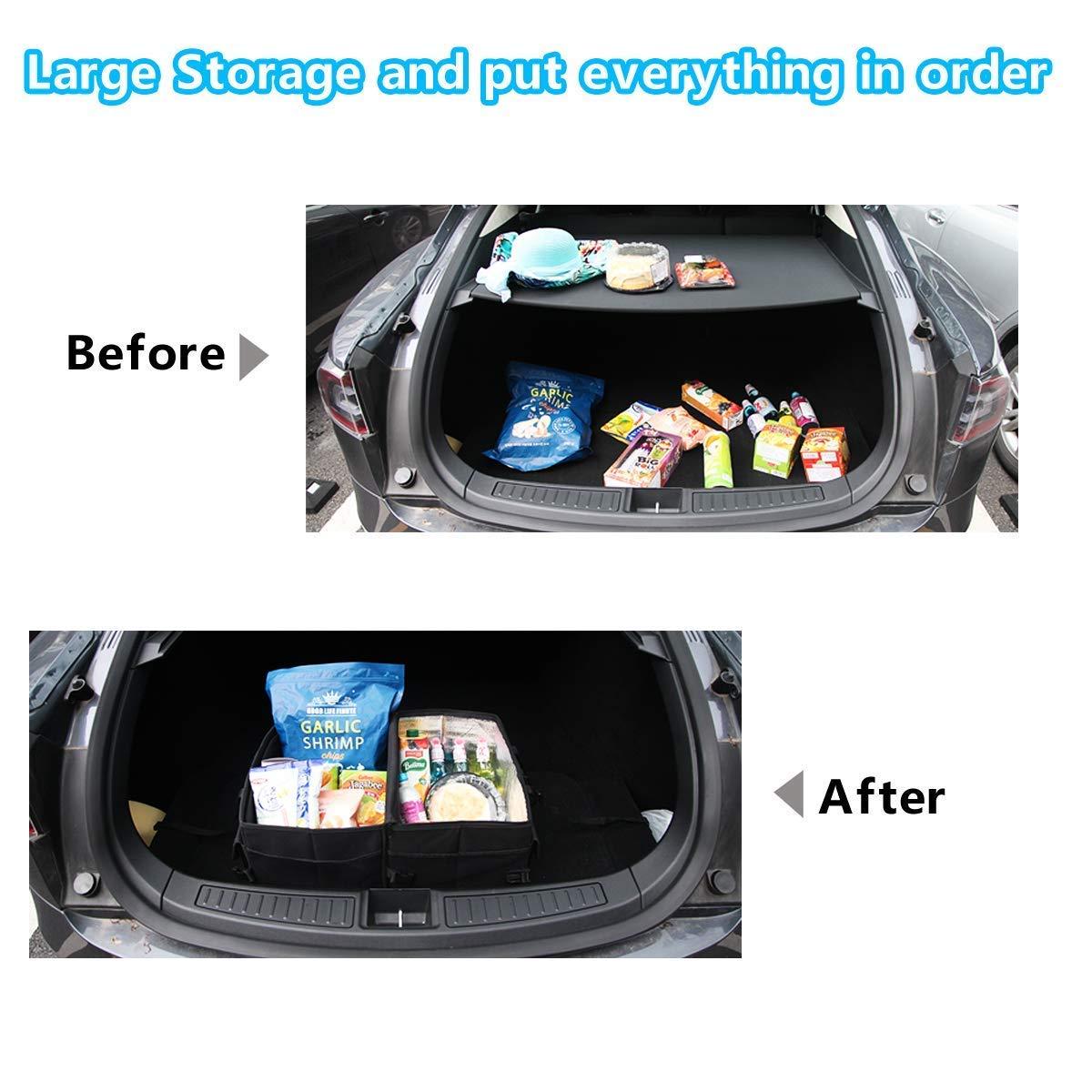 Tepoinn Kofferraum Organizer Auto mit Kühlfach Haltbar und faltbar Grosse Kapazität Perfekt für jedes Fahrzeug