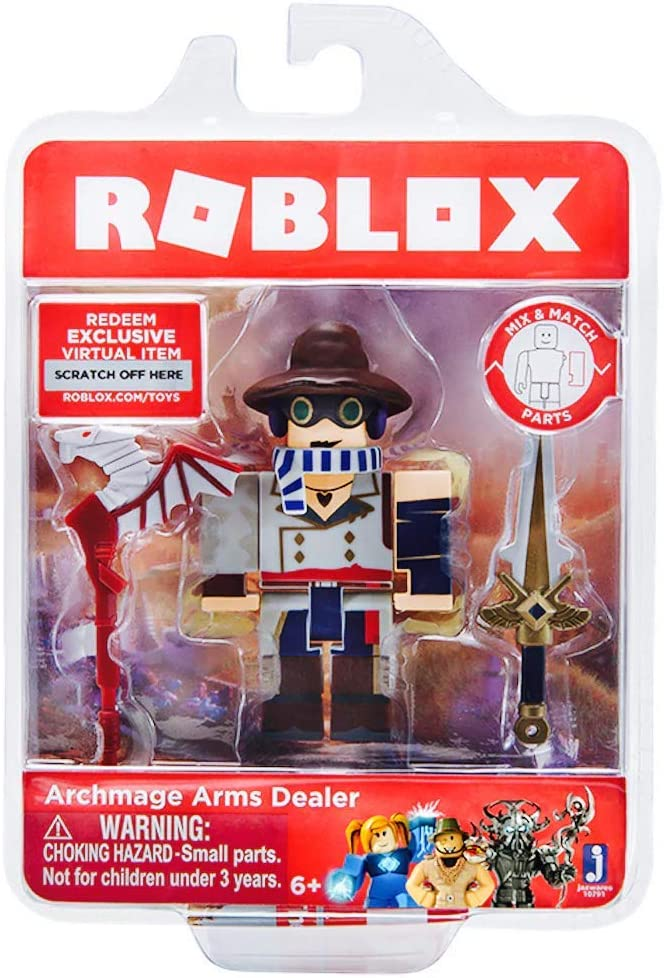 How To Redeem A Roblox Virtual Item Code Amazon Com Roblox Archmage Arms Dealer Single Figure Core Pack With Exclusive Virtual Item Code Toys Games